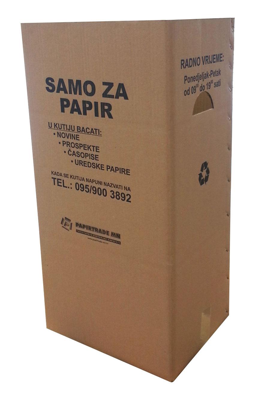 kutija za stari papir - sakupljanje papira